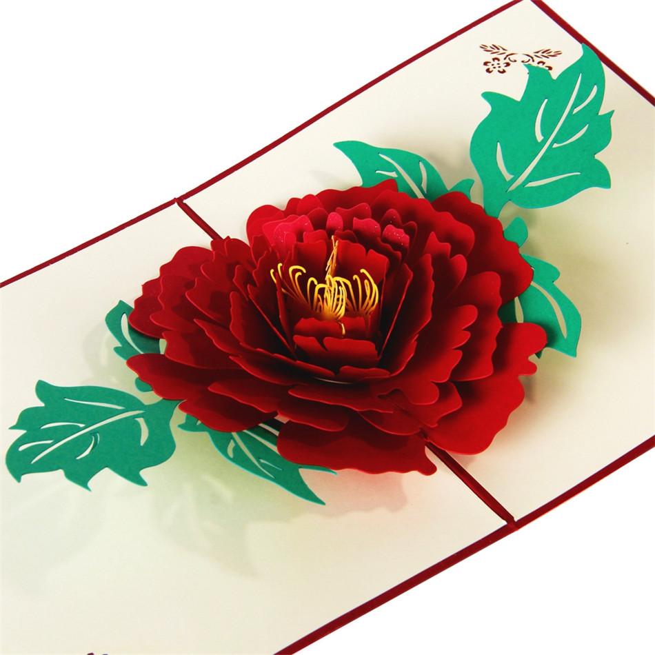 Мужские открытки, открытка роза объемная